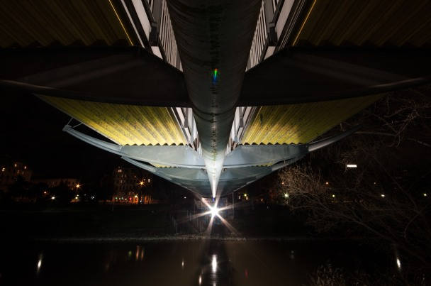 footbridge from below