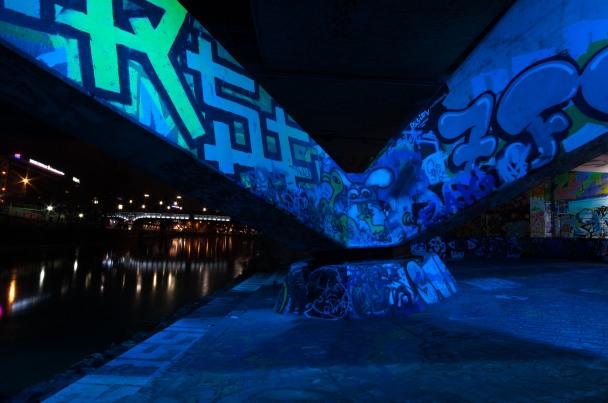 bridge neon light