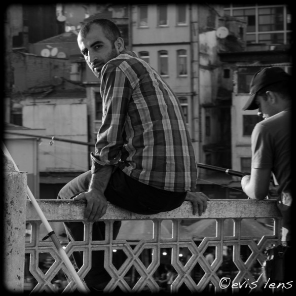 fisherman at galata bridge